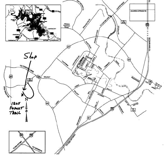 Map to 2013 Hammer-In