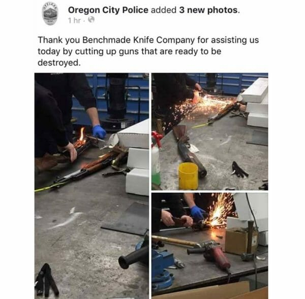 Benchmade Obeys Local Cops, Destroys Weapons, Offends Customers